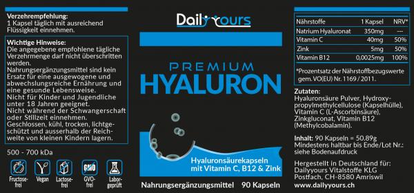 Nährstoffe Dailyyours Premium Hyaluron