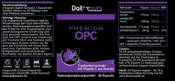 Nährstoffe Premium OPC
