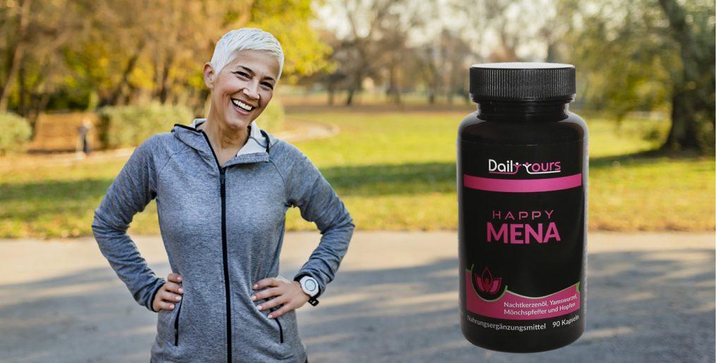 Happy Mena unterstützt deinen Körper perfekt in den Wechseljahren
